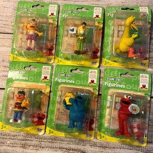 NIP Sesame Street Figurines set of 6 Vintage 2007